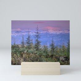 Sierra Nevada at sunset. Purple clouds Mini Art Print