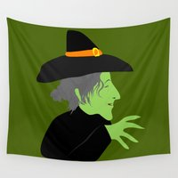 witch Wall Tapestries featuring Witch by Jessica Slater Design & Illustration