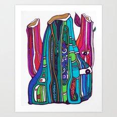 Funky Gus Art Print
