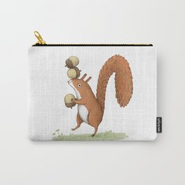 Squirrel With Acorns Carry-All Pouch