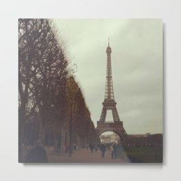 Rainy day in Paris Metal Print