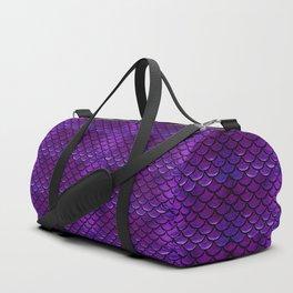 Purple & Blue Mermaid Scales Duffle Bag