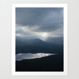 Carn Eilrig and Loch Morlich Art Print