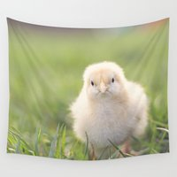 grumpy Wall Tapestries featuring grumpy chick by Life Through the Lens