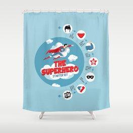 Superhero Kit Shower Curtain