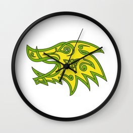 Boar Head Celtic Knot Wall Clock
