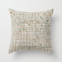 The Complete Voynich Manuscript - Natural Throw Pillow
