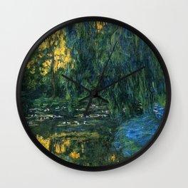 Claude Monet Dark Water  Lilies Wall Clock