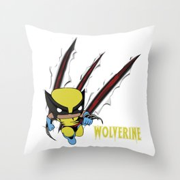 Scratch Wolve Throw Pillow