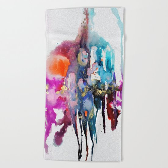 alive and walking (abstract) Beach Towel
