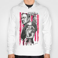 house of cards Hoodies featuring Two Kinds Of Pain - House Of Cards by Renato Cunha