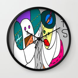 Travel Ghosts Wall Clock