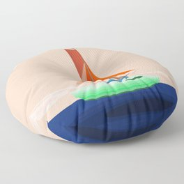 May Navigating on a Flat Earth - shoes stories Floor Pillow