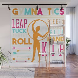Gymnastics Leap Tuck Aerial Roll Pike Wall Mural