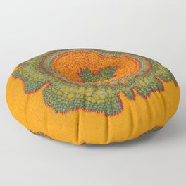 Growing -Taxus - plant cell embroidery Floor Pillow