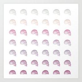 Pastel Skull Life Art Print