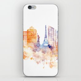 Las Vegas Watercolor Skyline iPhone Skin