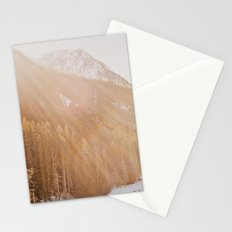 Sun Shining through the Mountains Stationery Cards