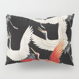 Flying Japanese Cranes Pillow Sham