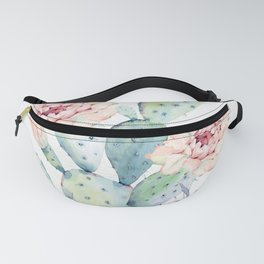 Prettiest Cactus Rose Watercolor by Nature Magick Fanny Pack