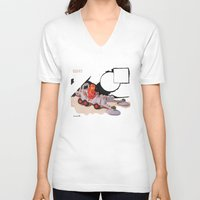 mineral V-neck T-shirts featuring Mineral Detector by Pocobelli