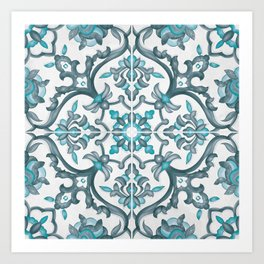 European tiles Art Print