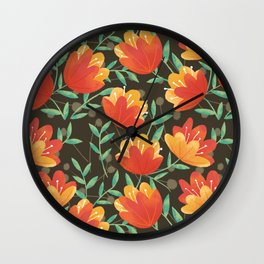 Afternoon Blossoms Wall Clock