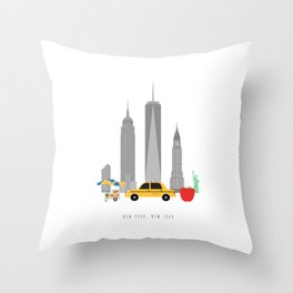 New York City, NYC Skyline Throw Pillow