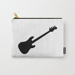 Bass Guitar Silhouette Carry-All Pouch
