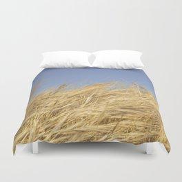 Golden Straw Duvet Cover