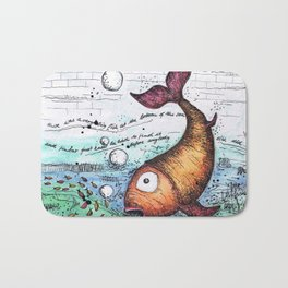 THERE WAS A VERY BIG FISH AT THE BOTTOM OF THE SEA... Bath Mat