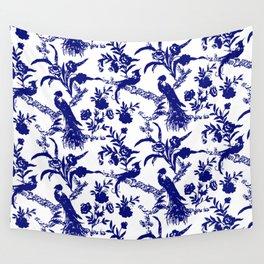 Royal french navy peacock Wall Tapestry