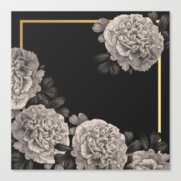 Flowers on a winter night Canvas Print