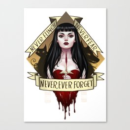 Never, Ever Forget Canvas Print