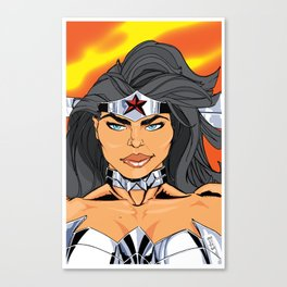 NEW 52! W. WOMAN READY FOR A FIGHT Canvas Print