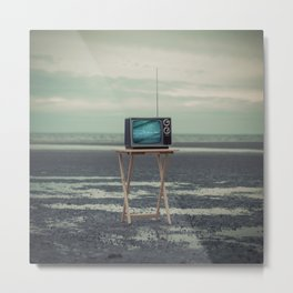 Who Needs Paradise When You Can Watch It On TV? Metal Print