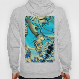Wind Tunnels and Black Holes Fractal Blue and Yellow Hoody