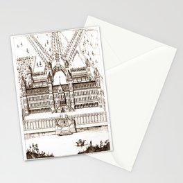 Castle old vintage Stationery Cards