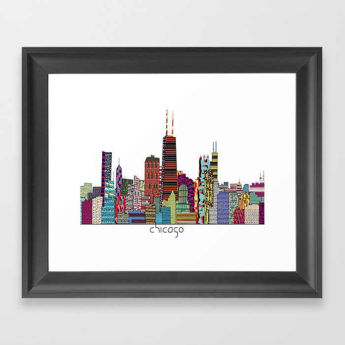 Chicago  Gerahmter Kunstdruck