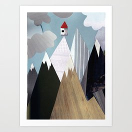 Mountaintop House Art Print