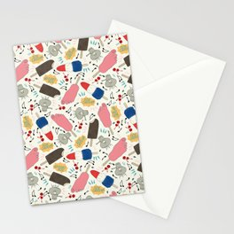 Ice Cream -  Retro,  Ice Cream Pattern Stationery Cards