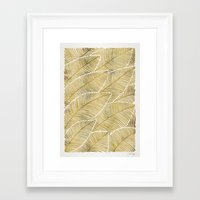tropical Framed Art Prints featuring Tropical Gold by Cat Coquillette