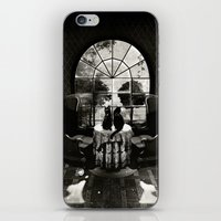 skull iPhone & iPod Skins featuring Room Skull B&W by Ali GULEC