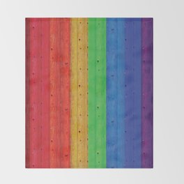 Colours Of The Rainbow Throw Blanket