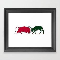 Bulls vs Bucks Framed Art Print