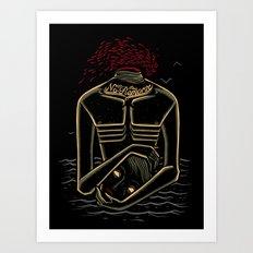 the stranger - camus Art Print