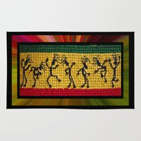 reggae Area & Throw Rugs featuring lively up reggae dancers by dedmanshootn