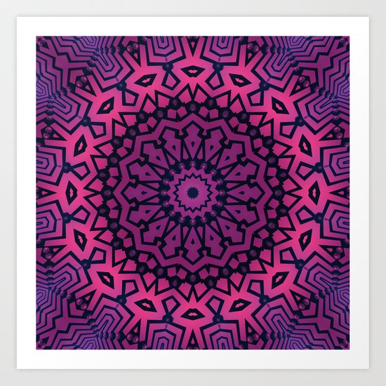 The Pink Tribe Art Print