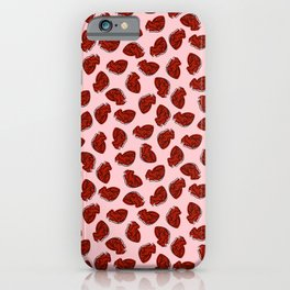 Anatomical Hearts on Pink iPhone Case