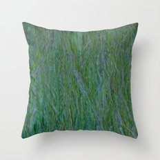 Abstract ~ Grass Throw Pillow